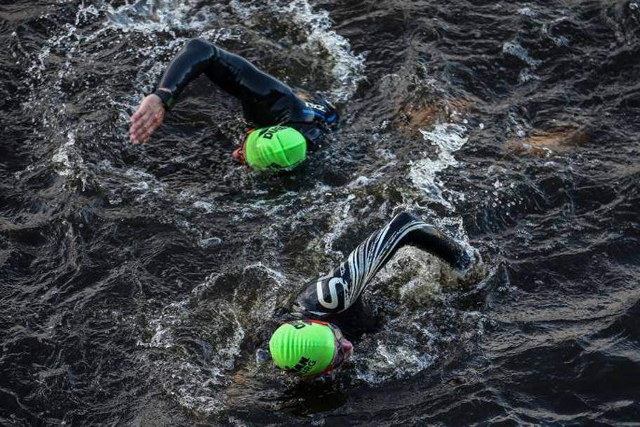 Un momento dell'Ironman ad Amburgo (Getty Images)