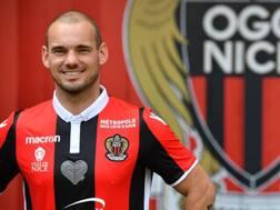 Wesley Sneijder, centrocampista del Nizza. Afp