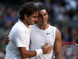 Roger Federer, 36 anni, e Rafael Nadal, 31 REUTERS