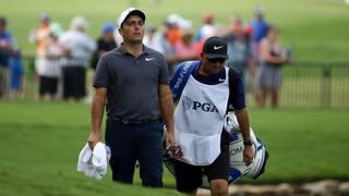 Francesco Molinari durante l'ultimo giro del PGA Championship. LaPresse