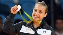 Odette Giuffrida, 22 anni, festeggia la medaglia d'argento ai Giochi Olimpici di Rio 2016 ANSA