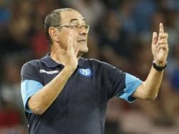 Maurizio Sarri, tecnico del Napoli. Afp