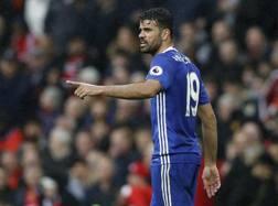 Diego Costa, 28 anni, con la maglia del Chelsea.