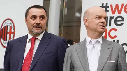 Massimiliano Mirabelli e Marco Fassone, coppia mercato del Milan. LAPRESSE