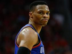 Russell Westbrook, 28 anni, ha vinto il suo primo mvp. Afp