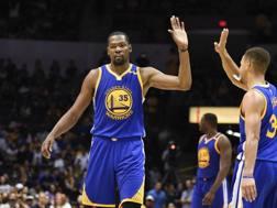 Kevin Durant, Mvp delle scorse Finals vinte con i Golden State Warriors. AP