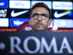 Eusebio Di Francesco, 47 anni, alla prima stagione sulla panchina della Roma. Ansa