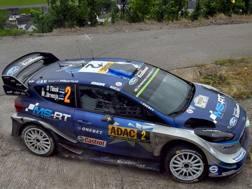 Ott Tanak sulla Ford Fiesta WRC. Getty