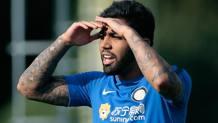 Gabigol che tra 10 giorni compirà 21 anni in allenamento con la maglia dell'Inter.