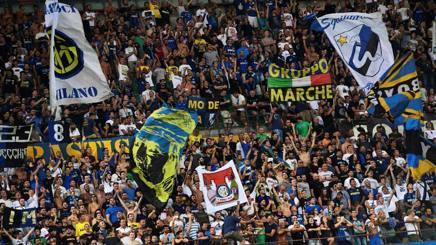 La curva dell'Inter. Afp