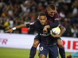 Verratti e Neymar insieme al Psg. LaPresse