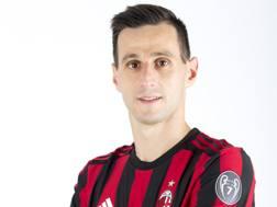 Nikola Kalinic in rossonero. Dal profilo Twitter del Milan