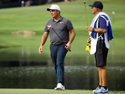 Francesco Molinari sul green del PGA Championship. LaPresse