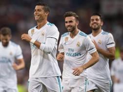 Il Real festeggia il gol di Ronaldo. Epa