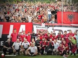 I Ballistet, tifosi dello Shkendija, avversario del Milan  in Europa League