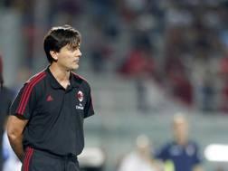 Vincenzo Montella, alla seconda stagione in rossonero. Lapresse