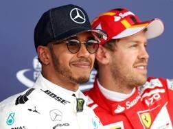 Lewis Hamilton e Sebastian Vettel. Reuters
