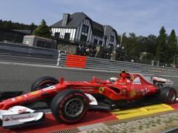 Kimi Raikkonen in azione a Spa. Ap