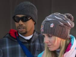 Tiger Woods, 41 anni, con Lindsey Vonn, 32, ai tempi della loro relazione AP