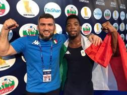 Frank Chamizo,25 anni, con il coach azzurro Gaydar Gaydarov