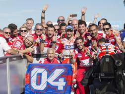 La festa Ducati per la quarta vittoria stagionale a Silverstone. Getty