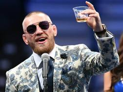 Conor McGregor così in conferenza... Afp