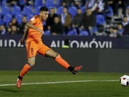 Munir El Haddadi, 22 anni, l'anno scorso in prestito al Valencia dal Barcellona. Lapresse