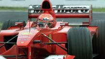 La Ferrari di Michael Schumacher durante la vittoria del GP di Suzuka. Reuters