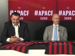 Massimiliano Mirabelli e Marco Fassone durante l'#APACF show