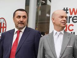 Massimiliano Mirabelli e Marco Fassone. LAPRESSE