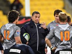 Franco Smith prima di un match dei Cheetahs. Afp