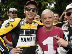 Valentino Rossi e Giacomo Agostini