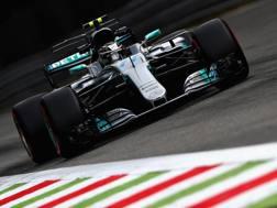 Valtteri Bottas in azione a Monza. Getty