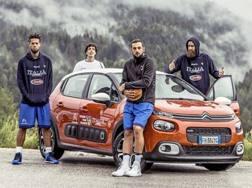 Gli azzurri dell'Ital-basket e Citroen insieme all'Europeo