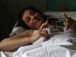 Vincenza Sicari sul letto d'ospedale