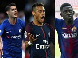 Morata, Neymar e Dembélé.