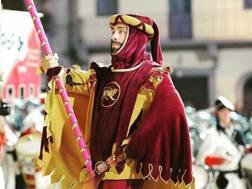 Matteo Marconcini in costume ad Arezzo nel 2016