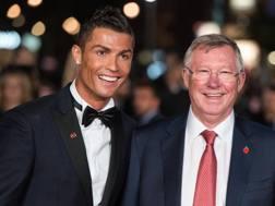 Cristiano Ronaldo e Sir Alex Ferguson, suo mentore al Manchester United. Getty Images