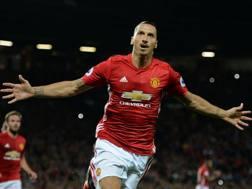 Zlatan Ibrahimovic, 35 anni, seconda stagione al Manchester United. Afp