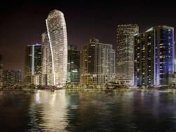 Il rendering della super residenza Aston Martin che sorgerà a Miami