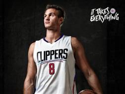 Danilo Gallinari, 28 anni, con la nuova maglia dei Clippers (via Twitter.com/LAClippers)