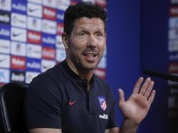 Diego Simeone, allenatore dell'Atletico Madrid. Epa