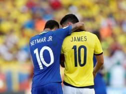 Neymar e James stelle a Barranquilla. Reuters
