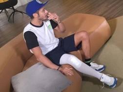 Valentino Rossi nel corso dell'intervista a Sky