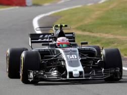 Antonio Giovinazzi sulla Haas. LaPresse