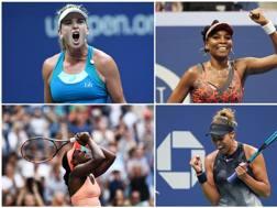Da sinistra in alto: CoCo Vandeweghe, Venus Williams, Madison Keys and Sloane Stephens