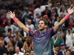 Juan Martin Del Potro, 28 anni, dopo la vittoria con Federer