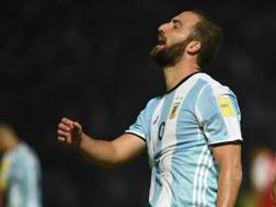 Gonzalo Higuain, escluso in nazionale dal c.t. Sampaoli. Afp