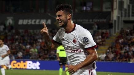Patrick Cutrone, attaccante del Milan. Ansa