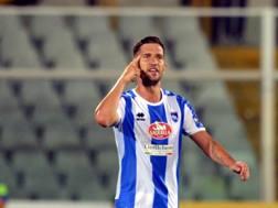 Stefano Pettinari, 6 gol in 3 partite con il Pescara. Lapresse